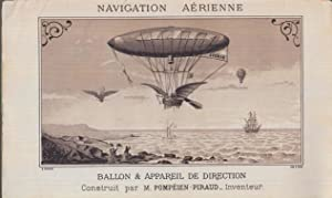Navigation aérienne. Direction des ballons. Notes sur: J -C Pompéien-Piraud