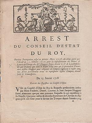 Arrest du Conseil d'Estat du roy, portant: Louis, King of
