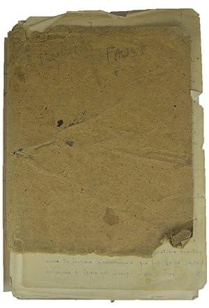 Manuscrit introduction et commentaire du Faust de: Goethe]