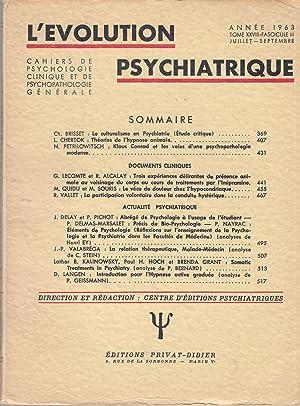 L'Évolution Psychiatrique - Cahiers de Psychologie clinique: Ch. Brisset, L.