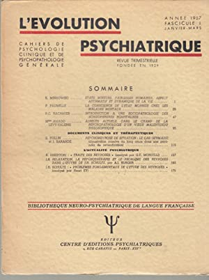 L'Évolution Psychiatrique - Cahiers de Psychologie clinique: E. Minkowski, P.