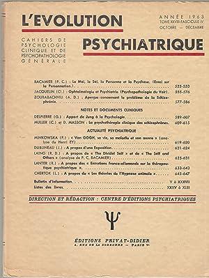 L'Évolution Psychiatrique - Cahiers de Psychologie clinique: P.C. Racamier, Cl.