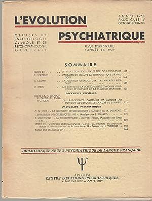L'Évolution Psychiatrique - Cahiers de Psychologie clinique: Henri Ey, R.