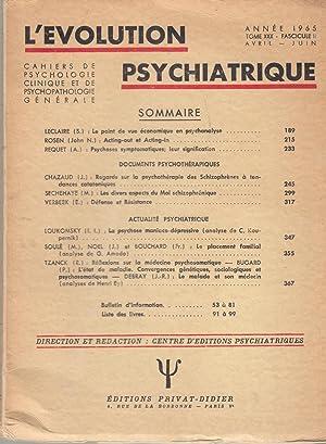 L'Évolution Psychiatrique - Cahiers de Psychologie clinique: S. Leclaire, John