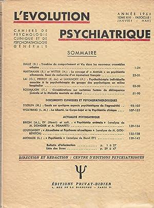 L'Évolution Psychiatrique - Cahiers de Psychologie clinique: B. Dalle, R.