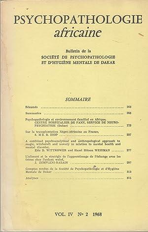 Psychopathologie africaine - Bulletin de la Société: S. M B.