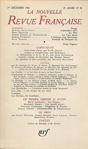 La Nouvelle Revue Française - 8e année: Audiberti, Jouhandeau, Bernard,
