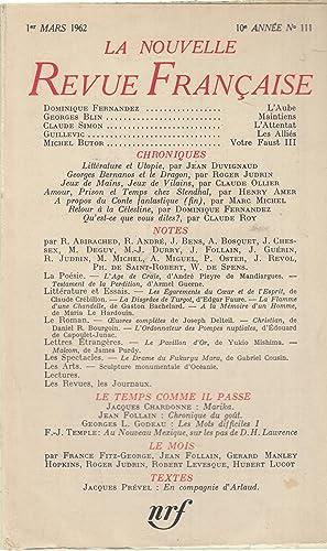La Nouvelle Revue Française - 1er Mars: Dominique Fernandez, Georges