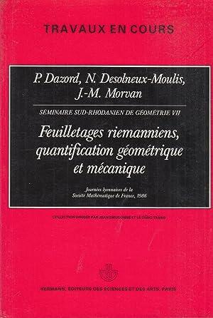Travaux en cours - Séminaire sud-rhodanien de: G. Cairns, G.