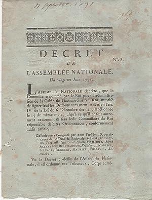 Décret de l'Assemblée Nationale. - Du 21: M.L.F. Duport, Delessart,