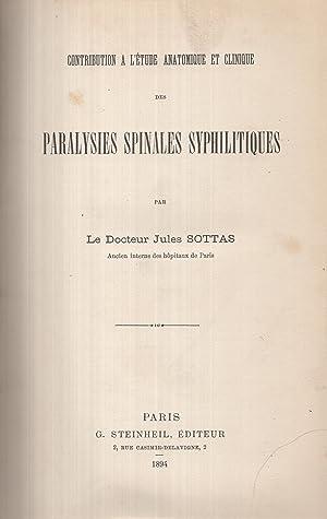 Contribution à l'étude anatomique et clinique des: Sottas Jules