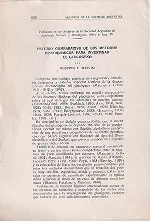 Estudio Comparativo de los Metodos Histoquimicos para: Roberto E. Mancini