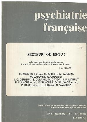 Psychiatrie Française. - N° 6 - 18°: Brisset, Kipman, Audisio,