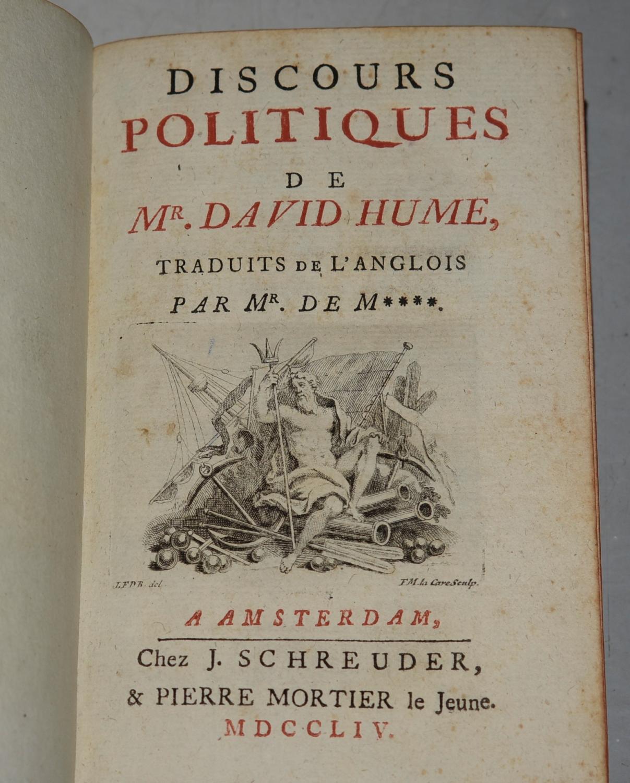 Anglois discours politiques de mr. david hume