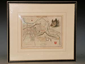 (Original Engraved Map of.) Colchester. . to Accompany the Beauties of England and Wales.