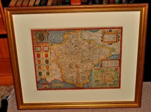 AN ORIGINAL ENGRAVED HAND-COLOURED MAP OF DEVONSHIRE.