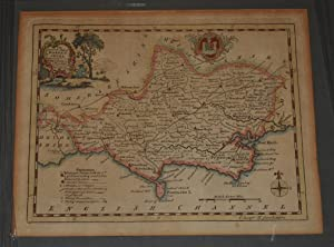 Antique Hand Coloured Engraved Map of Dorsetshire An Accurate Map of Dorsetshire, Drawn from the ...