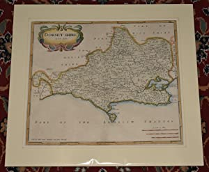 Original Engraved Map of Dorsetshire (Dorset) Sold by Abel Swale, Awnsham, and John Churchil.