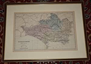 Engraved hand coloured map  Dorsetshire  Reduced from the Ordnance Survey, Divided into 5 Mile Sq...