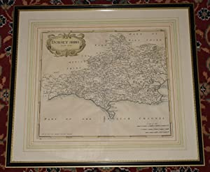 Original Engraved Map of Dorset shire Sold by Abel Swale, Awnsham, and John Churchil.