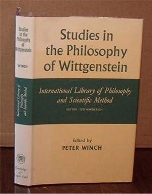 Studies in the Philosophy of Wittgenstein. International Library of Philosophy and Scientific ...