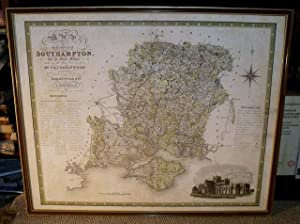 ORIGINAL ENGRAVED MAP OF THE COUNTY OF SOUTHAMPTON. From an actual Survey made in the years 1825 ...