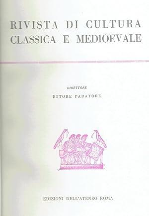 Rivista di cultura classica e medioevale: N.D.