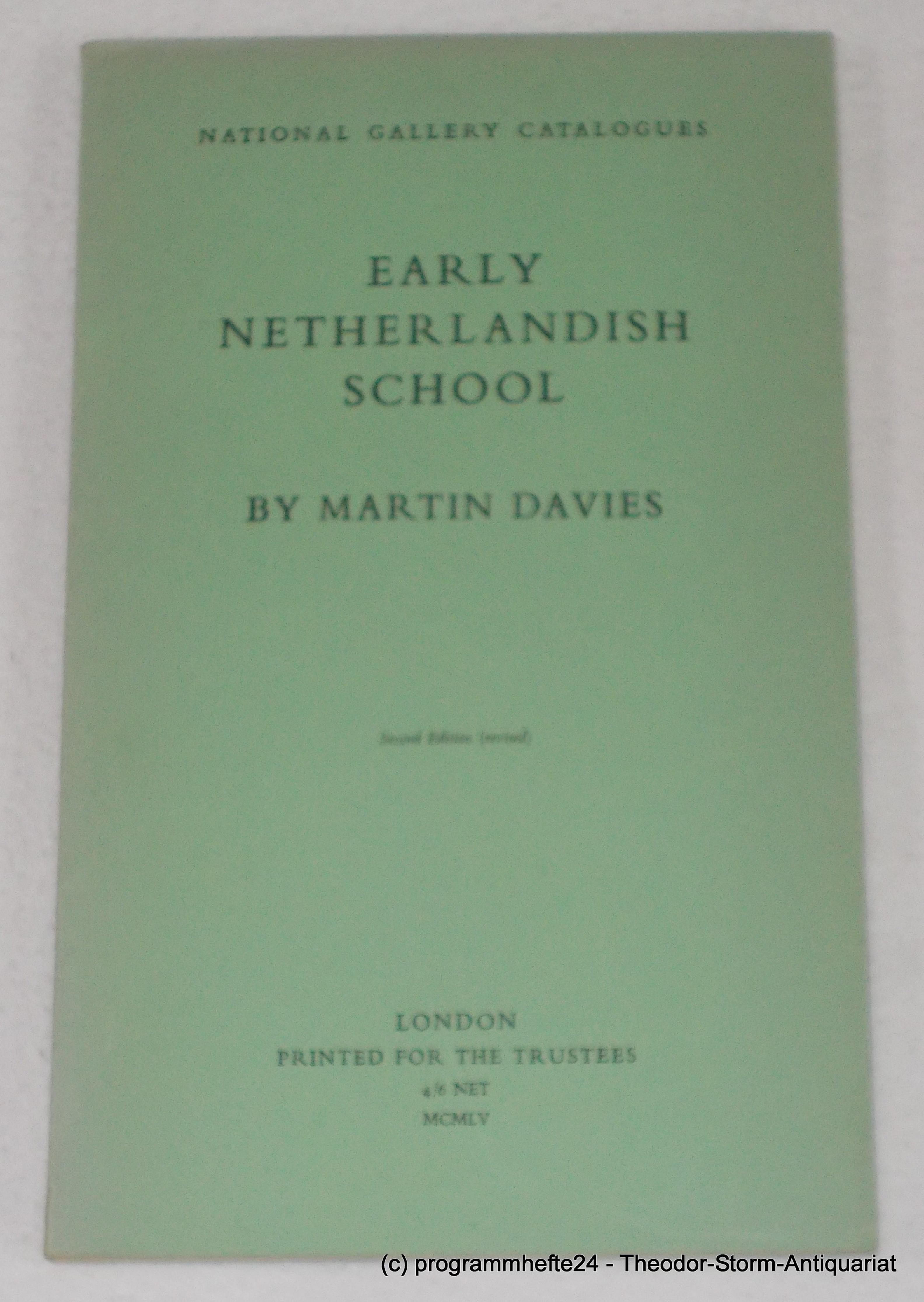 Early Netherlandish School. Second Edition. National Gallery: Davies Martin