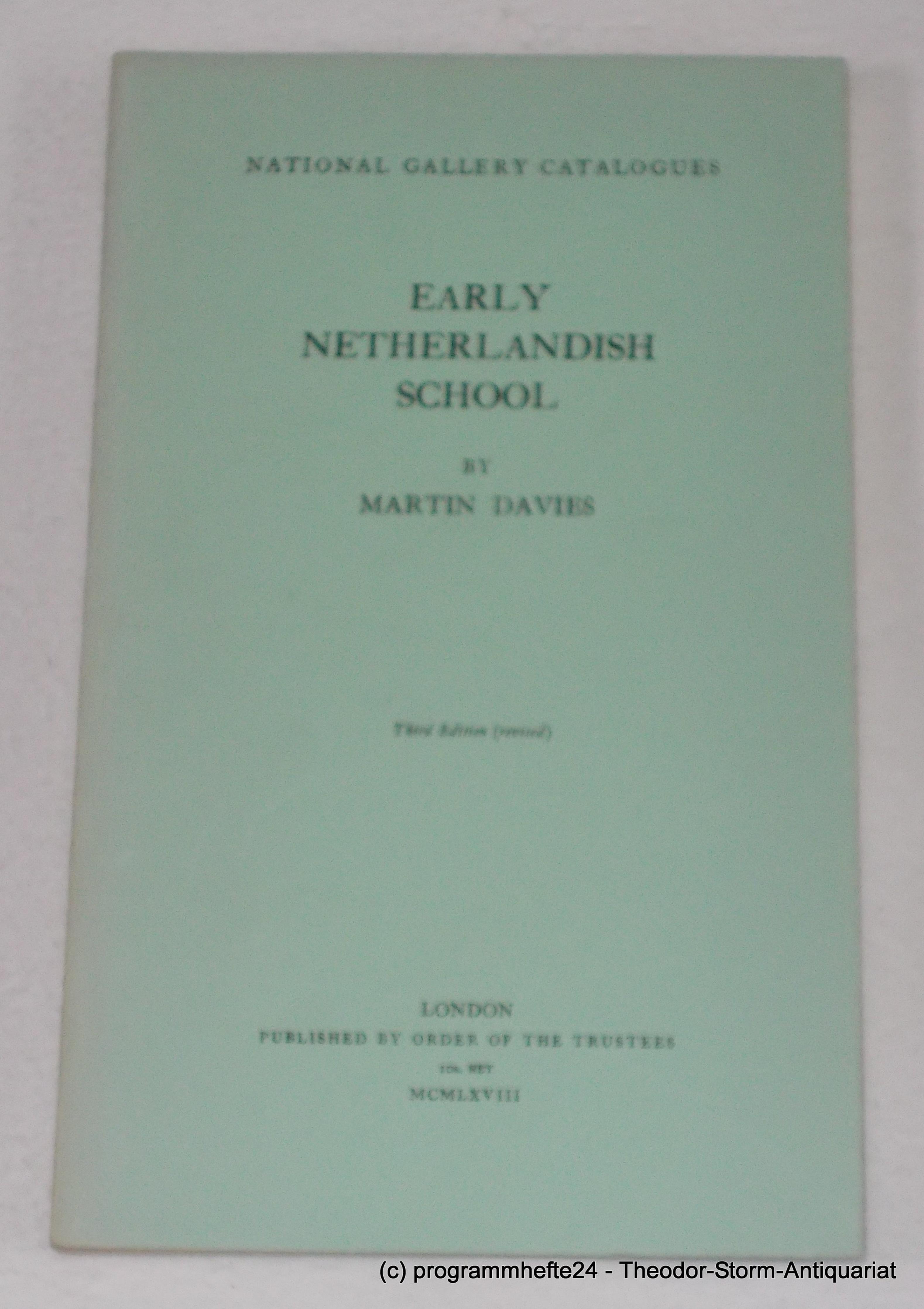 Early Netherlandish School. Third Edition. National Gallery: Davies Martin