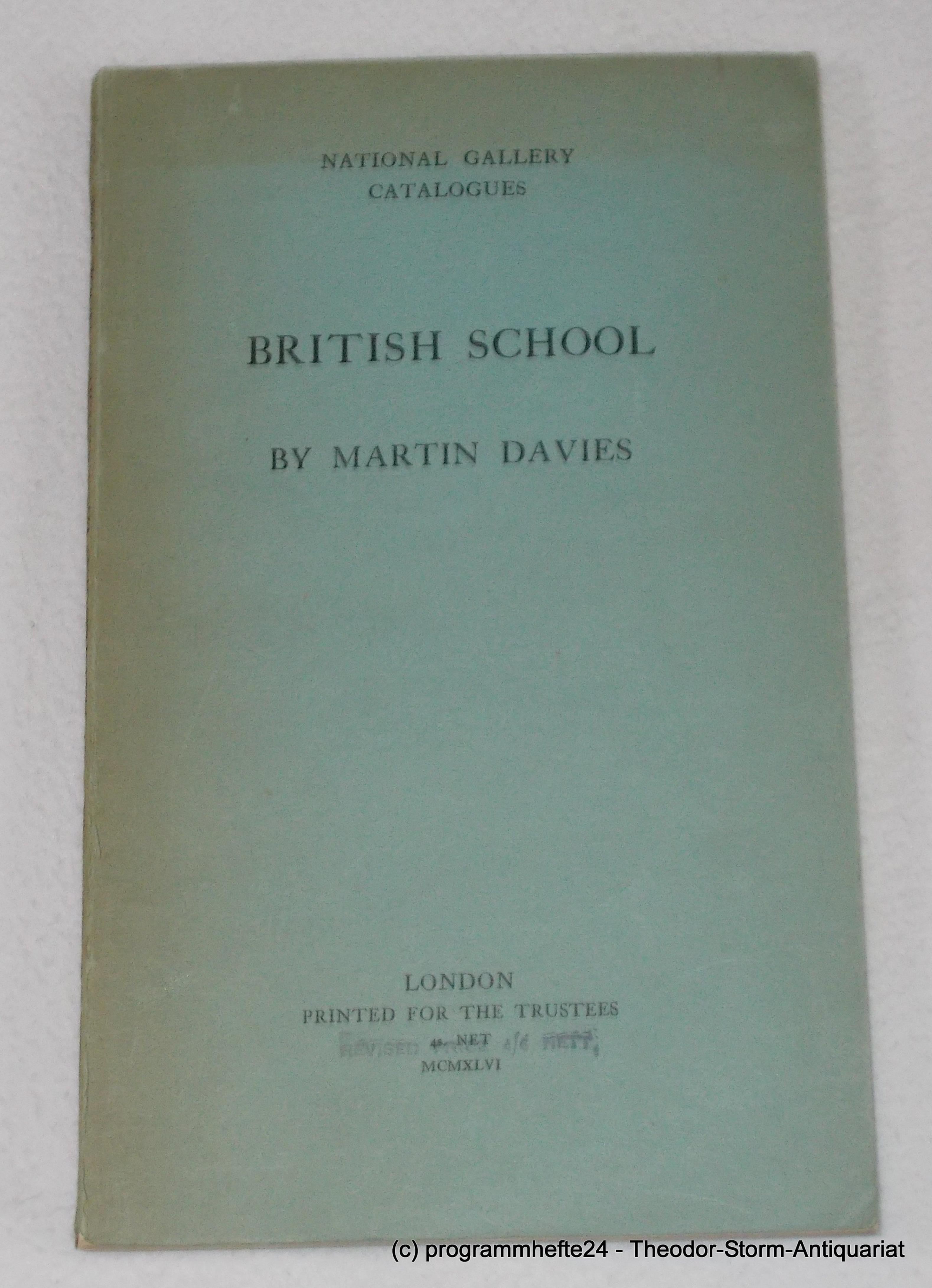 British School. National Gallery Catalogues: Davies Martin