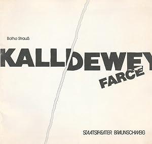Programmheft Kalldewey, Farce von Botho Strauß. Premiere: Staatstheater Braunschweig, Mario