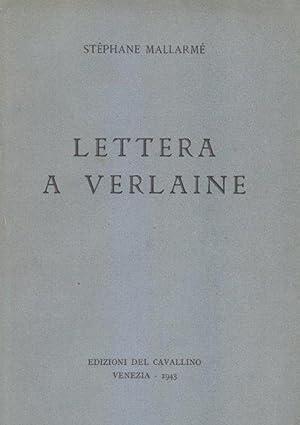 Lettera a Verlaine: MALLARME' Stephane