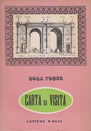 Carta da visita: POUND Ezra