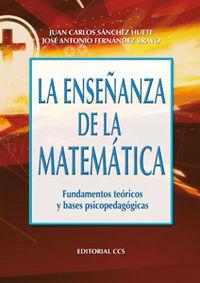 La enseñanza de la matemática: SÁNCHEZ HUETE, JUAN
