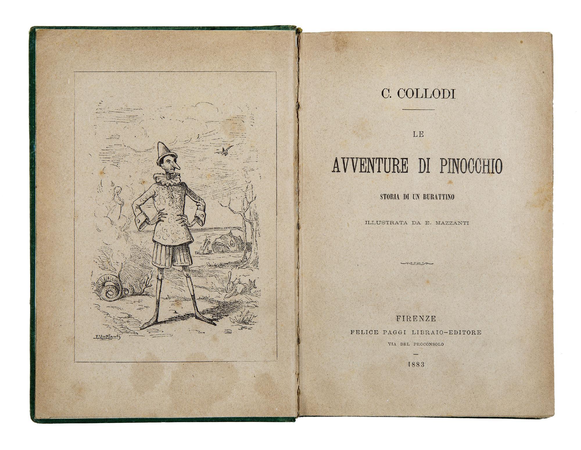Le avventure di Pinocchio. Storia di un burattino. Illustrata da E ...