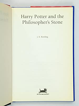 Harry Potter Philosophers Stone By Rowling First Edition Abebooks