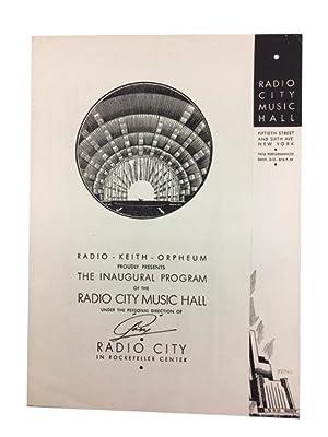 Radio Keith Orpheum Proudly Presents the Inaugural: Radio City Music
