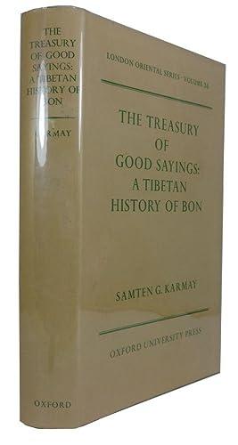 The Treasury of Good Sayings: A Tibetan: Karmay, Samten G.,