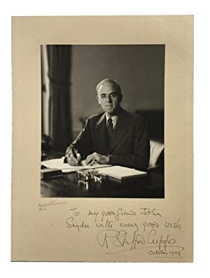Photograph by Walter Stoneman: Stafford Cripps, Sir Richard