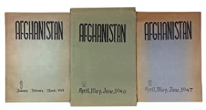 Afghanistan. Three issues: Vol. 1, No. 2 (April-June, 1946) and Vol. 2, Nos. 1 & 2 (Jan-March & A...