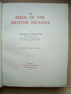 The Birds of the British Islands.: Charles Stonham. Illustrated by Lilian M. Medland.