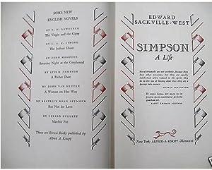 Simpson: A Life: SACKVILLE-WEST, Edward (1901-1965)