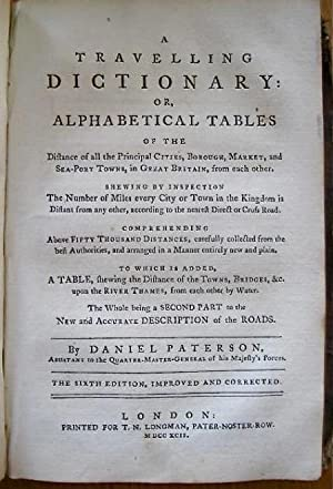A New and Accurate Description of All the Direct and Principal Cross Roads in England and Wales [...