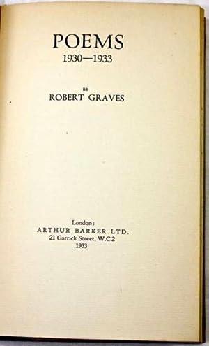 Poems 1930-1933: GRAVES, Robert (1895-1985)