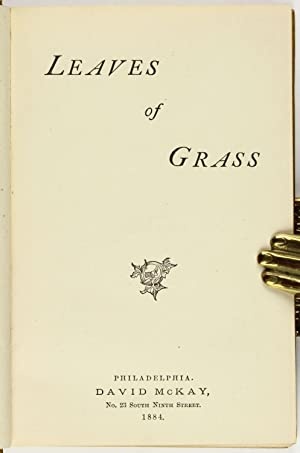 Leaves of Grass: WHITMAN, Walt (1819-1892)