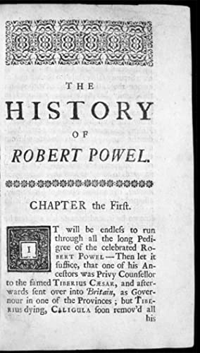 A Second Tale of a Tub: or, The History of Robert Powel the Puppet-Show-Man: BURNET, Sir Thomas, ...
