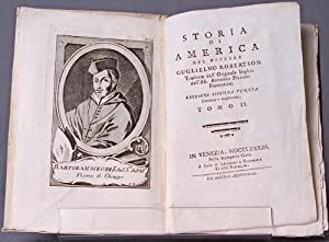 Storia di America [The History of America, in Italian, with 4 hand-colored maps]: ROBERTSON, ...