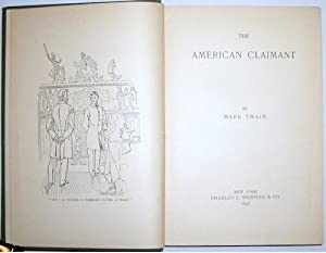 The American Claimant: Clemens, Samuel Langhorne] TWAIN, Mark [1835-1910]