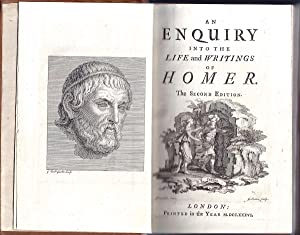 An Enquiry into the Life and Writings of Homer [with original pen-and-ink sketch]: BLACKWELL, ...