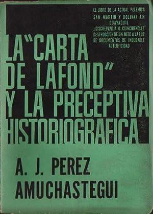 "La ""Carta de Lafond"" y la preceptiva: Pérez Amuchástegui, Antonio"